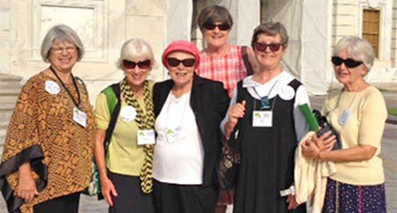 Members of 100 Grannies posing in Washington D.C.