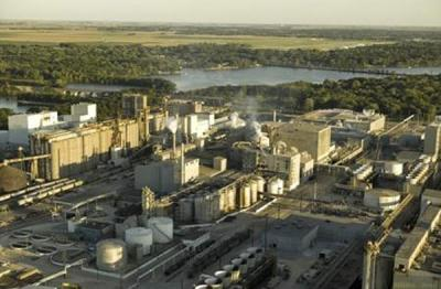 Archer Daniels Midland Agricultural Processing and Biofuels Plant in Decatur, IL.