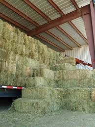 Large stack of many bales